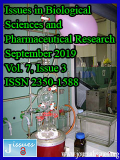 Issues in Biological Sciences and Pharmaceutical Research
